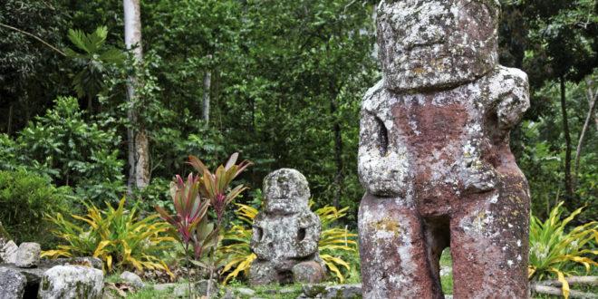 Relikte der Ureinwohner Tahitis